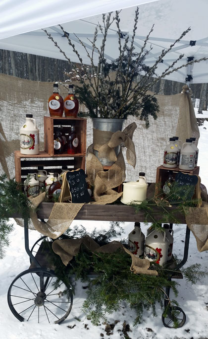 2016 Maple Syrup Season: Our Syrup Booth